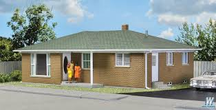 House Kit by Walthers Ranch Tract House Kit 5 1 2 X 4 1 8 X 2 1 4