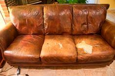 Recovering Leather Sofa Leather With Fabric Cushions Furniture Pinterest