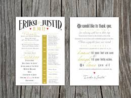 thank yous on wedding programs printable front and back wedding program and thank by lobodesign