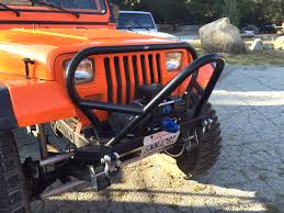 jeep front grill guard yj boulder stinger grill guard front bumper steel genright