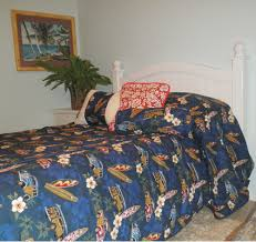 Beach Comforter Set Hawaiian Bedspread With Woody Cars Surfboards And Hawaiian