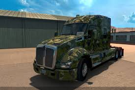 kenworth trailers army skin for kenworth t680 truck american truck simulator mod