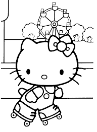 hello kitty gymnastics coloring pages coloring kids pinterest