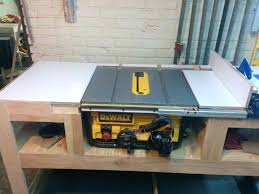 Table Saw Stand With Wheels Build A Folding Outfeed Table To Mount On Your Table Saw Stand