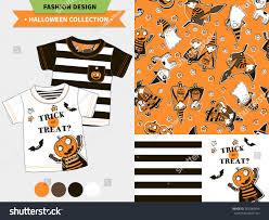 halloween fashion set babies kids vector stock vector 302980994
