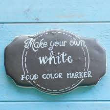 where to buy edible markers make your own white food color marker eat think be merry