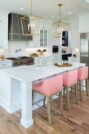 Bar Kitchen Design - i like the set up with the kitchen triangle and the colors more
