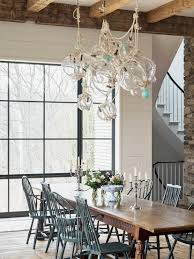 Shaker Dining Room Chairs Nautical Chandelier In A Shaker Style Dining Room Perfectly