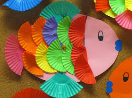 cupcake liner fish kids craft pracovka pinterest cupcake
