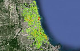 Ruby Map Ruby Using Google Maps Heat Map To Display Chicago Crime Statistics