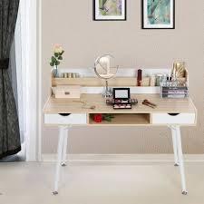 coiffeuse bureau bureau informatique coiffeuse table de maquillage avec 2 tiroirs