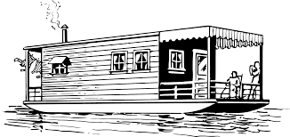 houseboat clipart