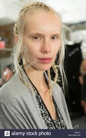 new york hair show 2015 new york ny september 10 2015 model sally jonsson poses stock