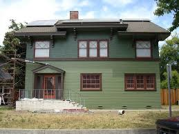 two tone green bungalow exterior ideas pinterest craftsman