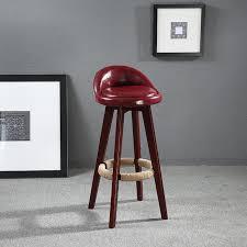 barhocker küche sitzhöhe 60 cm dreh holz barhocker stuhl leder gepolsterten