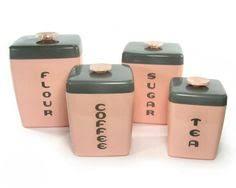 pink kitchen canister set vintage kromex canister s complete set matches pink kitchenaid