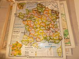 Beautiful World Map by Vintage French Posters Botany Animals Anatomy Old World Maps From