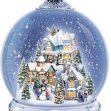 kinkade snowglobe with base lights home