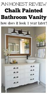 What Paint To Use On Bathroom Cabinets by Honest Review Of My Chalk Painted Bathroom Vanities