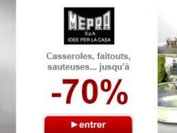 vente privee batterie cuisine vente privée mepra casseroles et batteries de cuisine à prix fous