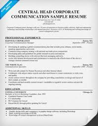 Skills Section Resume Examples by Resume Communication Section Resume Examples Communications