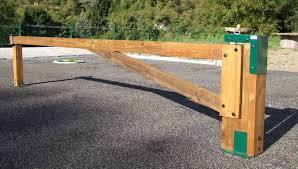 cache conteneur bois barrière tournante bois alban mobilier urbain barrière