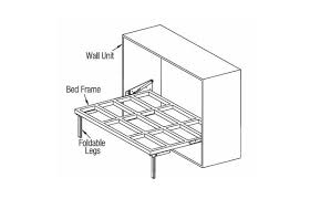 wall bed fittings horizontal