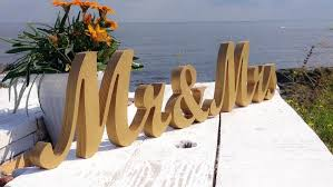 Wedding Table Signs Beach Wedding Mr And Mrs Table Signs Wedding Theme Gold Wedding