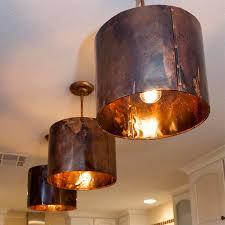 Copper Light Pendants Mediterranean Kitchen Copper Pendant Light Custom Now