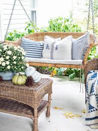 cozy up your front porch with farmhouse style for fall hgtv