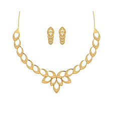 necklace set 22ct gold heavy look bridal necklace set by namaskar jewellers in