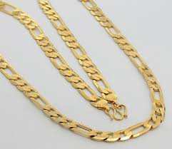 necklace gold man images Future dream ways send 24k gold plated chain necklace for men