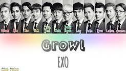 exo growl lyrics growl exo lyrics free music download