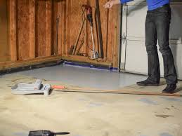 Two Tone Wood Floor How To Paint A Garage Floor With Epoxy How Tos Diy