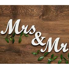 Mr And Mrs Wedding Signs Aliexpress Com Buy 1 Set Mr U0026 Mrs Wedding Letters White Black Mr