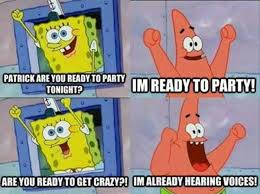 Party Hard Memes - dank spongebob memes on twitter me too patrick crazy partyhard