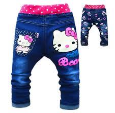 alibaba jeans kids girls jean hello kitty pants cashmere pants elastic waist girls