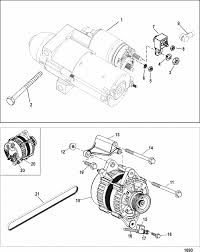 mercruiser 496 mag h o model starter u0026 alternator parts