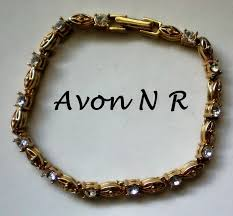 gold tone tennis bracelet images Avon nr gold tone tennis bracelet the manor 39 s finest antiques jpg