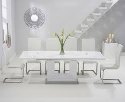 High Gloss Extending Dining Table Tula 160cm White High Gloss Extending Dining Table With Malaga
