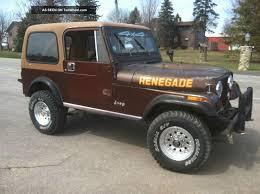 brown jeep cj7 renegade 1986 jeep cj7 renegade sport utility 2 door 4 2l