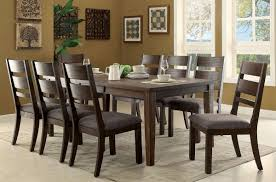 9 piece dining room sets isadora transitional espresso finish 9 piece dining table set