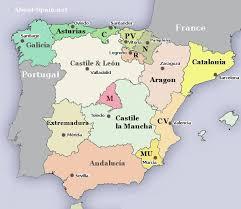 map of spain regions or autonomous communities of spain