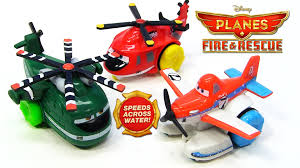 3 disney planes fire rescue hydro wheels pontoon dusty