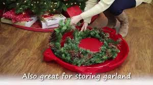 iris holiday wreath storage box tote with handle youtube