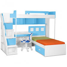 Milano Bunk Bed With Study Table  Chair - Milano bunk bed