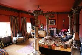 Bedroom Ideas With Red Walls Best Red And Black Application Ideas For Living Room Interior