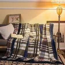 plaid canapé grande taille arnigu classique plaid motif épaisse couverture grande