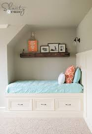 Plans For Building Built In Bunk Beds by Diy Built In Storage Bed Shanty 2 Chic