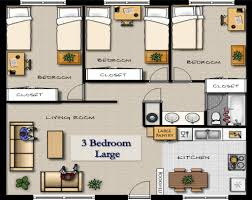 three bedroom apartment plan with design picture 70483 fujizaki